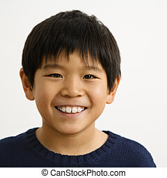 menino, asiático