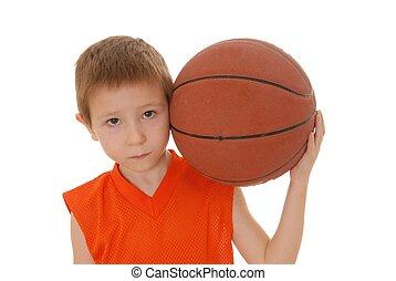 menino, basquetebol, 14