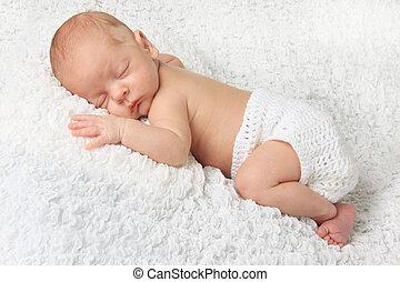menino, bebê, recem nascido