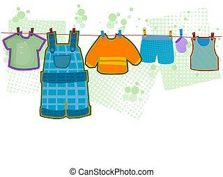 menino bebê, roupas