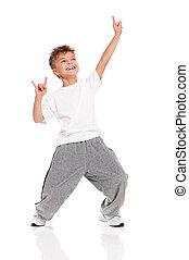 menino, dançar
