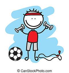 menino, desporto