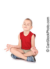 menino, ioga