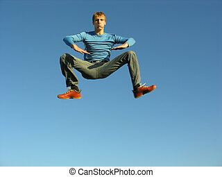 menino, levitação
