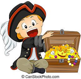 menino, pirata