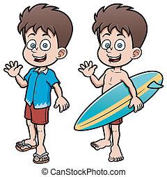 menino, surfista