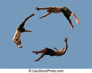 meninos, voando