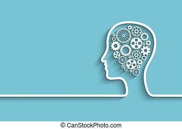 menneske hovede