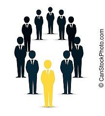 menneske, konstruktion, isoleret, ressourcer, rekrut