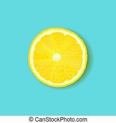 mennica cytryny, odizolowany, tło