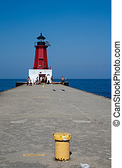 Menominee North Pier Lighthouse, Michigan