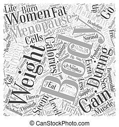 menopausal weight gain Word Cloud Concept