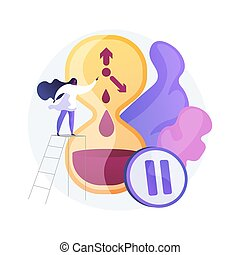 Menopause abstract concept vector illustration. Women climax...