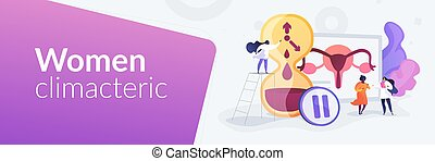 Menopause concept banner header - Female personal health ...