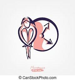 Menopause vector icon