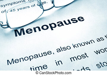 Menopause written on a paper