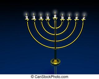 Menorah. 3D. - Holiday Hanukkah. Menorah. 3D. Look my...