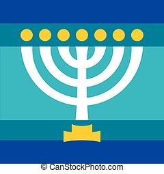 Menorah (ancient Hebrew sacred seven-candleholder)