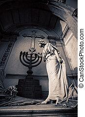 menorah, cimetière recoleta