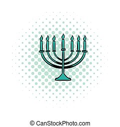 Menorah comics icon