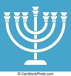 Menorah icon white