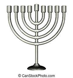 Menorah - Illustration of menorah isolated on a white ...
