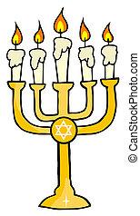 Menorah  - Chanukah Golden Menorah