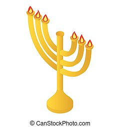 Menorah isometric 3d icon
