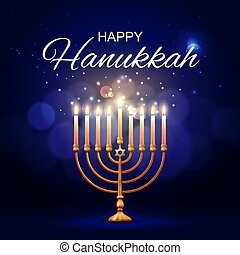 menorah, juif, star., hannukah, david, religion
