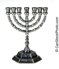 Menorah on the white background