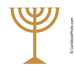 Menorah on white a vector illustration
