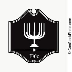 Menorah Retro Symbol Element