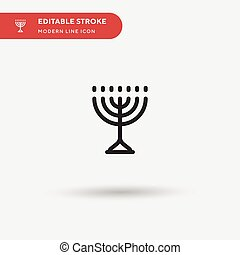 Menorah Simple vector icon. Illustration symbol design template for web mobile UI element. Perfect color modern pictogram on editable stroke. Menorah icons for your business project