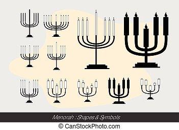 Menorah Symbols