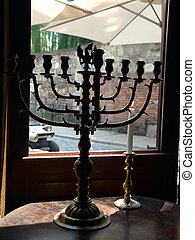 Menorah (Temple) - a seven-branched candelabrum used in the...