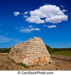 Menorca Ciutadella Naveta des Tudons megalithic tomb - ...