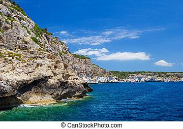Menorca island south coast scenery, Spain.