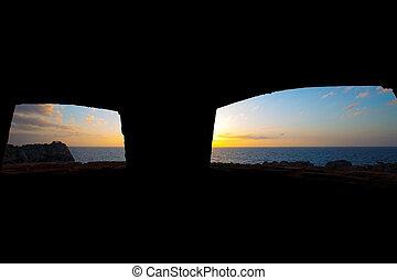 menorca, punta, nati, 中に, ciutadella, balearic 島