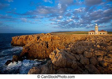 Menorca Punta Nati Faro lighthouse Balearic Islands -...