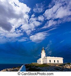 Menorca sunset at Faro de Caballeria Lighthouse - Menorca...
