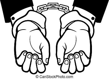 menottes, mains