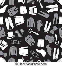 mens, öltözet, seamless, motívum, eps10