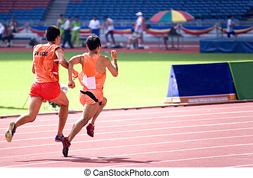 Mens 100 Meters for Blind Persons - A blind athlete ...
