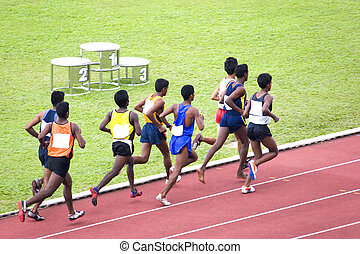 Men's 3000 Meters Steeplechase - Athletes competing in the...