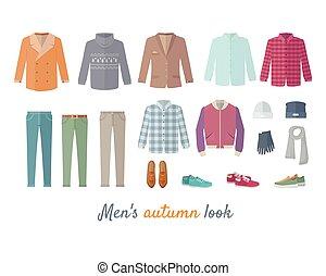 Mens Autumn Look Apparel Set. Clothing. Outerwear. - Mens...