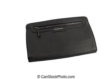 Mens bag, - Men's stylish small handbag. over white