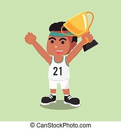men's basketball player holding
