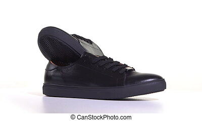 Mens Black Sneakers With Laces - Mens black sneakers with...