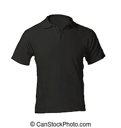 Men's Blank Black Polo Shirt Template