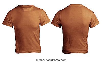 Men's Blank Brown Shirt Template